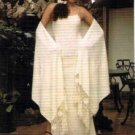 Ekological pima cotton,white long Dress with shawl