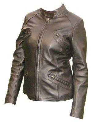 Women`s Brown Biker Style Nappa Leather Jacket
