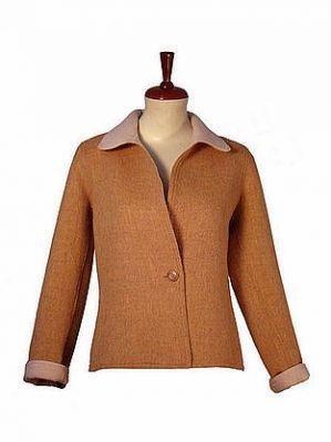 Brown Jacket, Blazer, Surialpaca wool, outerwear
