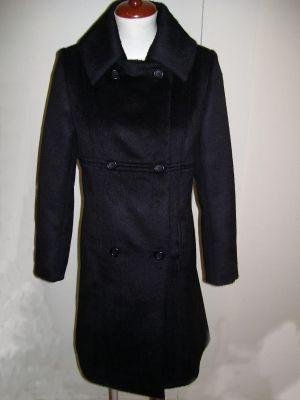 Long Coat, pure Babyalpaca wool, black outerwear