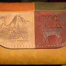 Peruvian wallet, purse made of pure leather