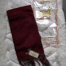 Burgundy alpaca wool lighter scarf,neck scarf, unisex