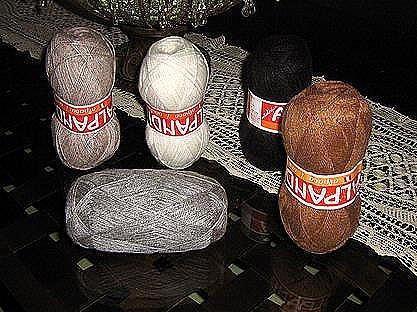 1.1 pounds mixed colors Alpaca wool,knitting wool