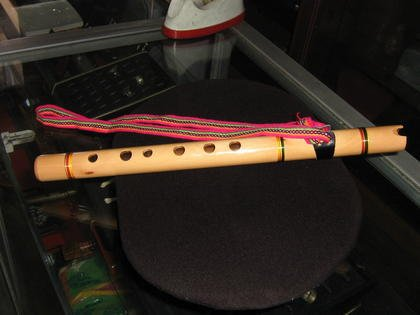 Original peruvian instrument, flute,typical Quena