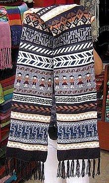 Ethnic peruvian Scarf,shawl made of Babyalpaca wool