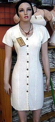 White long dress, pure ekological Pima Cotton