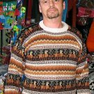 Sweater for men, made of Alpaca wool,round neck