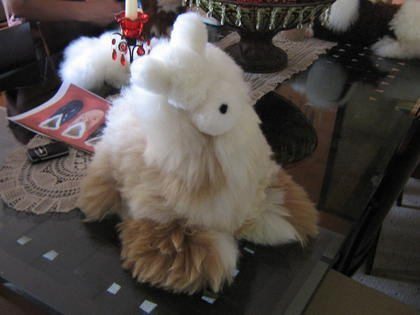 Fur figure Lama,handmade with Alpaca pelt, soft toy