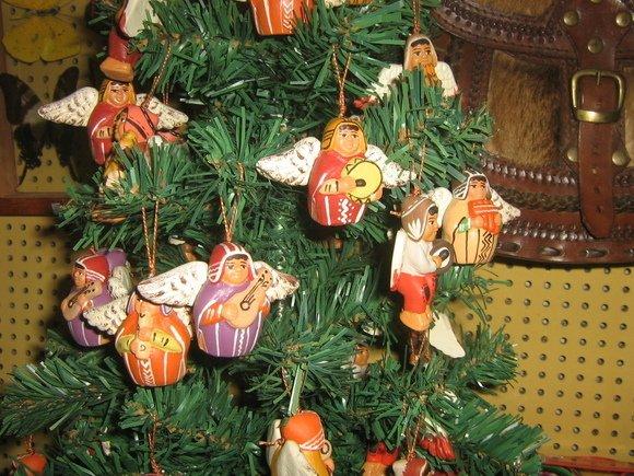 20 peruvian christmas angels, ceramik handmade