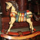 Rocking horse,hand painted and carved,cedarwood