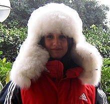 Winter hat with ear flaps,Alpaca pelt, cap