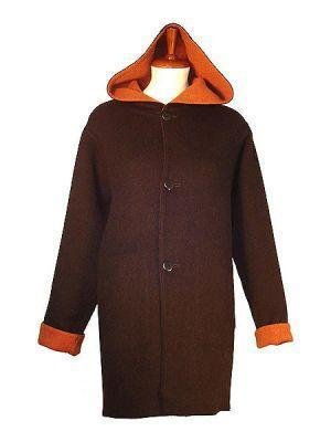 Long Coat with hood, pure Alpaca wool outerwear