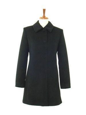 Black long coat, made of Babyalpaca wool,outerwear