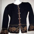 Embroidered black jacket, Alpacawool