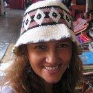 Summer cap, hat made with Alpaca wool, standart size