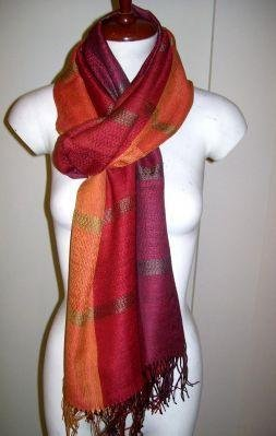 weaved shawl, mix Babyalpaca wool and Silk fabric
