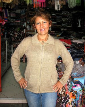 Beige cardigan for Ladies, Alpacawool
