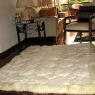 Alpaca pelt rug,white carpet,190x140 cm,74x55 Inches