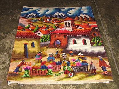 Motive rug, woven Carpet,110x155 cm,61x43 Inches