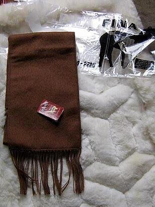 Brown Alpaca wool lighter scarf,neck scarf, unisex