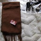 Brown Alpaca wool lighter scarf,neck scarf, unisex