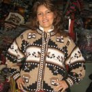 folklorical cardigan,jacket made with pure Alpaca Wool