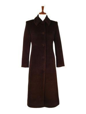 Brown long coat, pure Babyalpaca wool,outerwear
