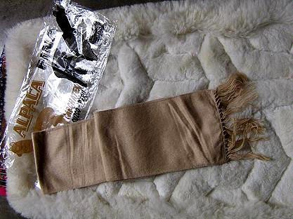 Light brown Alpacawool lighter scarf,neck scarf,unisex