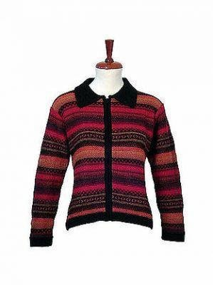 Colorful Cardigan,Jacket is made with Alpaca wool