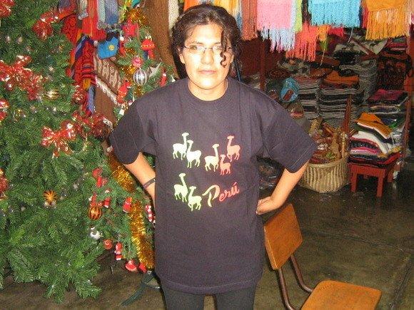 T-shirt, half sleeve shirt with Alpaca,100% Cotton