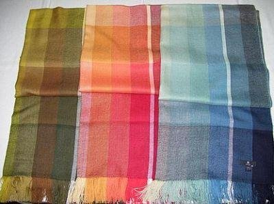 Shawls, 3 different colored scarves, Babyalpaca wool