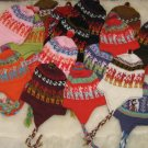 25 Alpaca woolen hats with ear flaps, wholesale lots