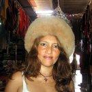 Brown pelt hat, Babyalpaca fur, fur cap