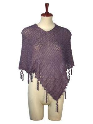 weaved wrap in a poncho style, pure Babyalpaca wool