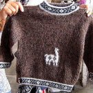 Toddlers sweater, turtleneck made with Alpacawool