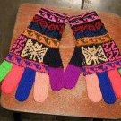 Hand gloves,colored mittens made with Alpaca wool