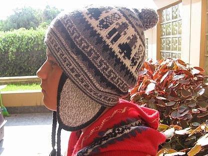 Ethnical peruvian Chullo, Woolly Hat, Alpaca wool