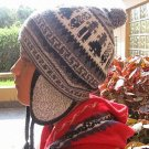 Ethnical peruvian Chullo, Woolly Hat, Alpaca wool
