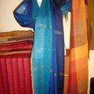 Weaved colorful shawl, mix Babyalpaca wool and Silk