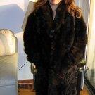 Babyalpaca brown Pelt long coat, outerwear