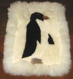 Alpaca fur rug, carpet with 40 x 35 cm, 16 x 14 Inches