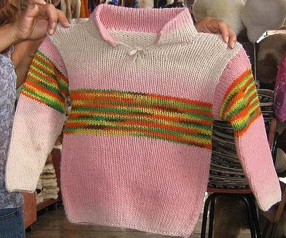 Toddler girl infant sweater, made with pure Alpaca wool