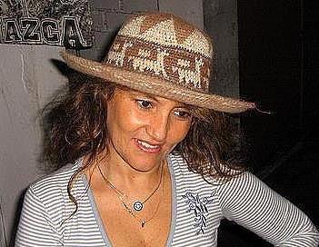 Brown summer hat from Peru, Alpaca fabric cap