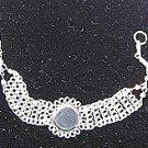Alpaca silver bracelets, jewelry with a river stone