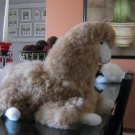 Plush toy Lama figure, handmade with alpaca fur