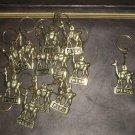 Lot of 24 Keyholder, bronze, Alpaca design,wholesale