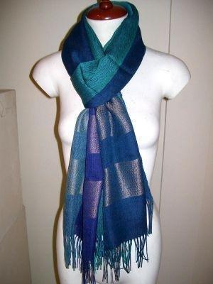weaved shawl,wrap mix Babyalpaca wool and Silk