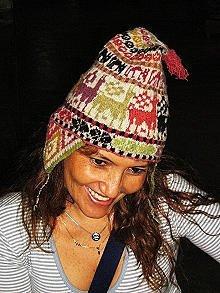 Original Peruvian Chullo, Hat warm pure Alpaca wool