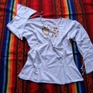 White shirt,longsleeve blouse, ecological Pyma Cotton