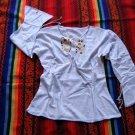White shirt,longsleeve blouse, ecological Pyma Cotton